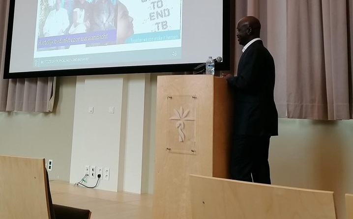 Dr. Bassirou Diarra, Head of BSL-3, defending his PhD thesis.